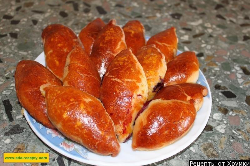85Рецепт дрожжевых пирожков с вишней в духовке