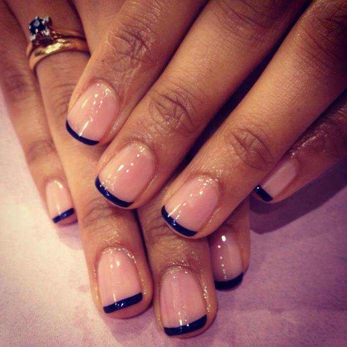 Френч ногтей разных цветов 13