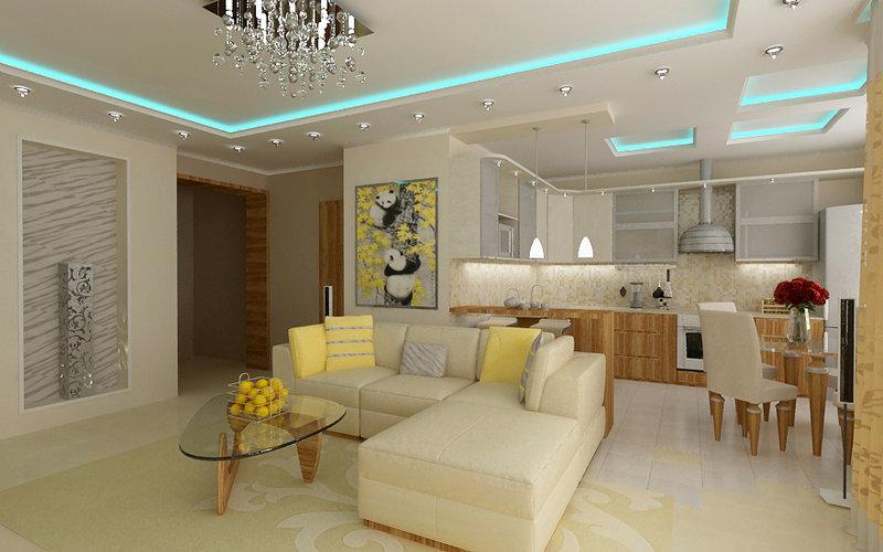 Дизайн гостиной совмещенной с маленькой кухней в хрущевке