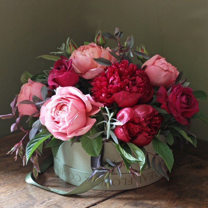 Пионовидные розы для открытки 6