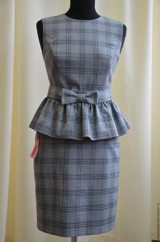 Сшить юбку своими руками из костюмной ткани