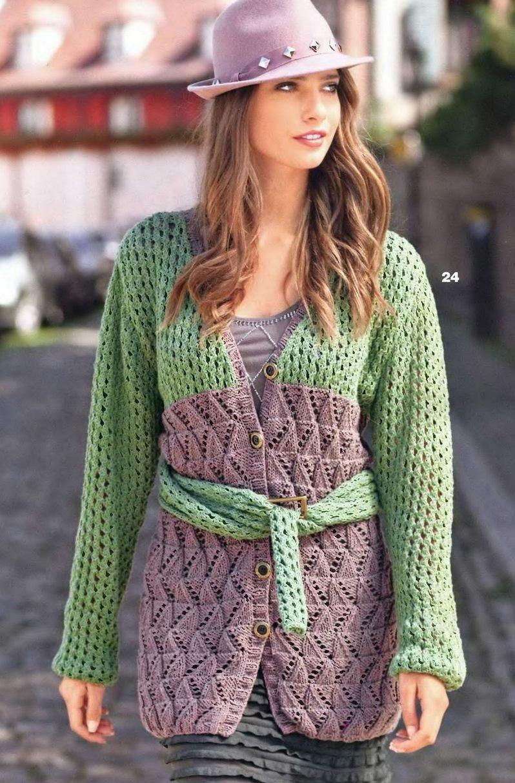 Вязание кардиганов спицами модели 2016 фото