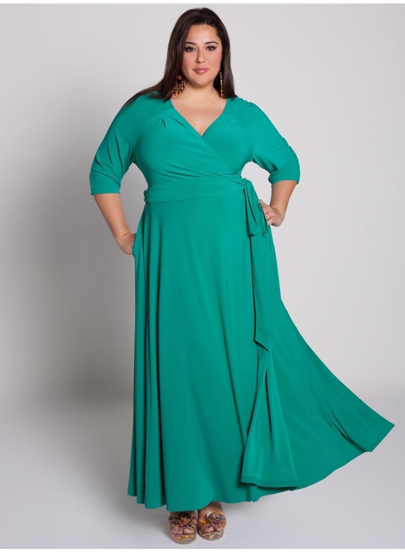 Как сшить платье для полной дамы
