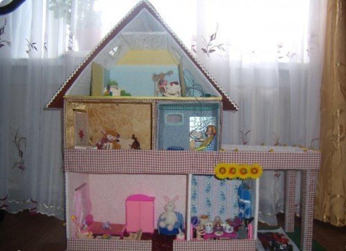 Кукольный домик своими руками пошаговое фото 55