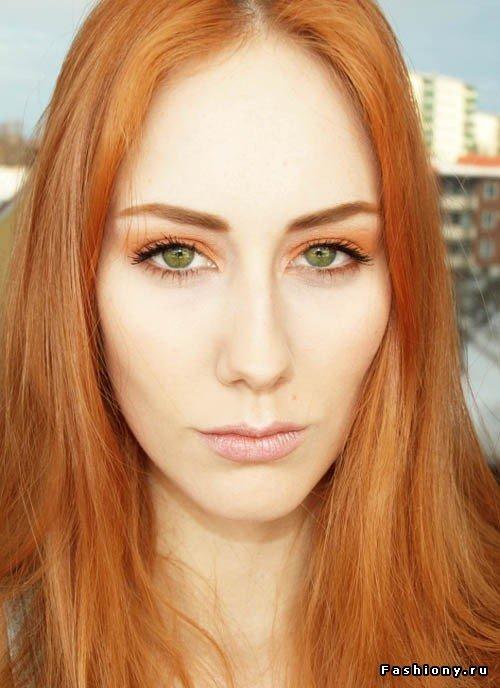 Цвет бровей при рыжих волосах