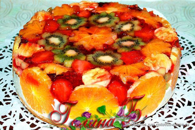 Торт своими руками фруктовый