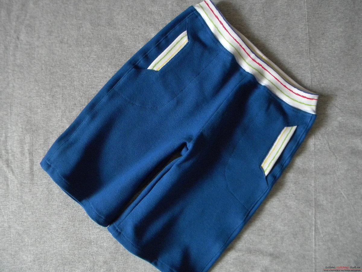 Как сшить шорты с накладными карманами XL Мастер-классы