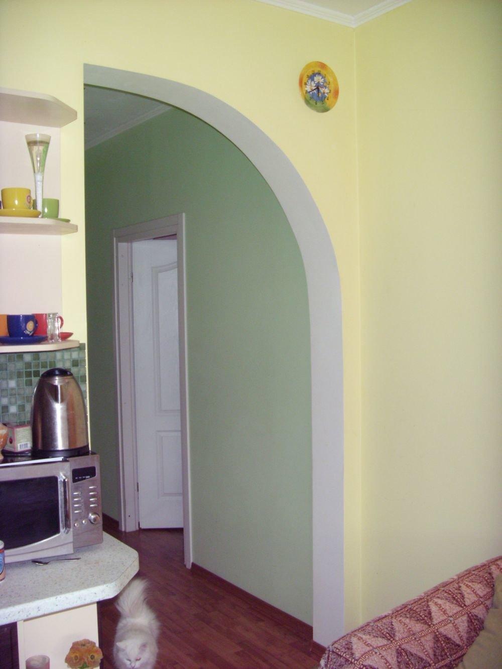Дизайн арки из гипсокартона на кухне