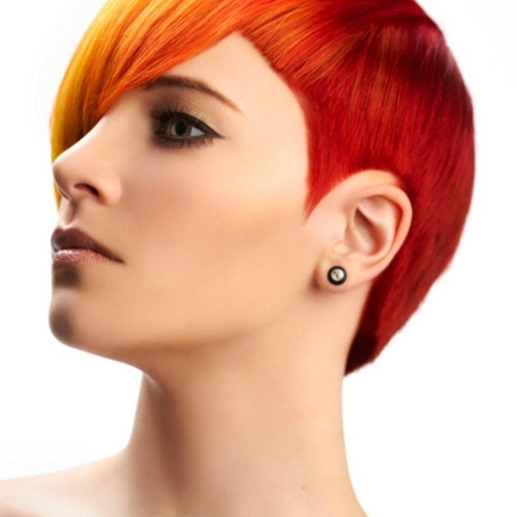 Стрижка короткие красные волосы