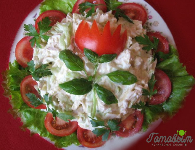 Рецепт вкусного летнего салата на день рождения с