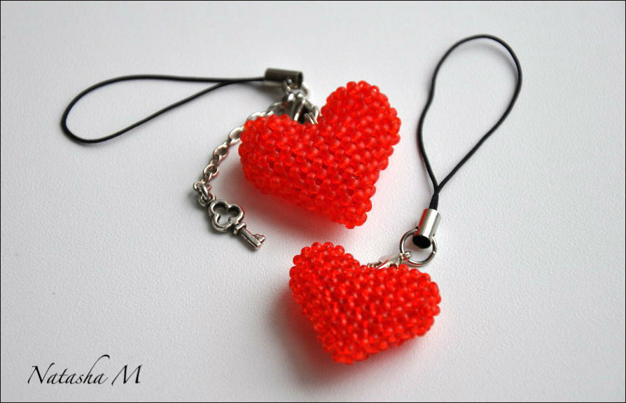 Как из бисеров сделать сердце из 178