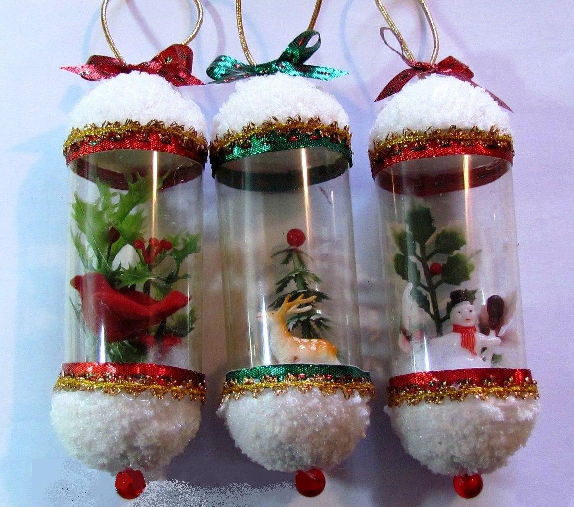 Новогодние игрушки на уличную ёлку своими руками из пластиковых бутылок 42