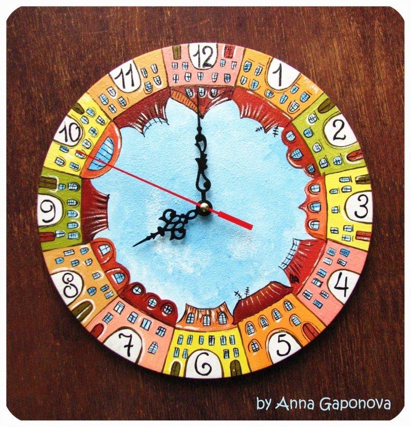 Красивые часы настенные своими руками