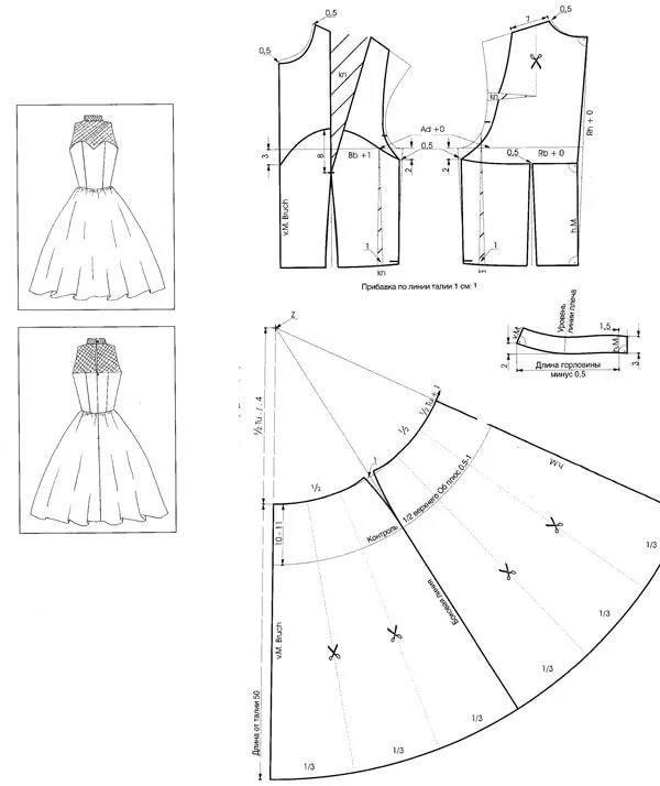 Платье пышное сшить своими руками выкройка 21