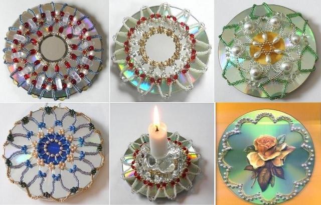 Поделки из дисков своими руками мастер класс видео 150