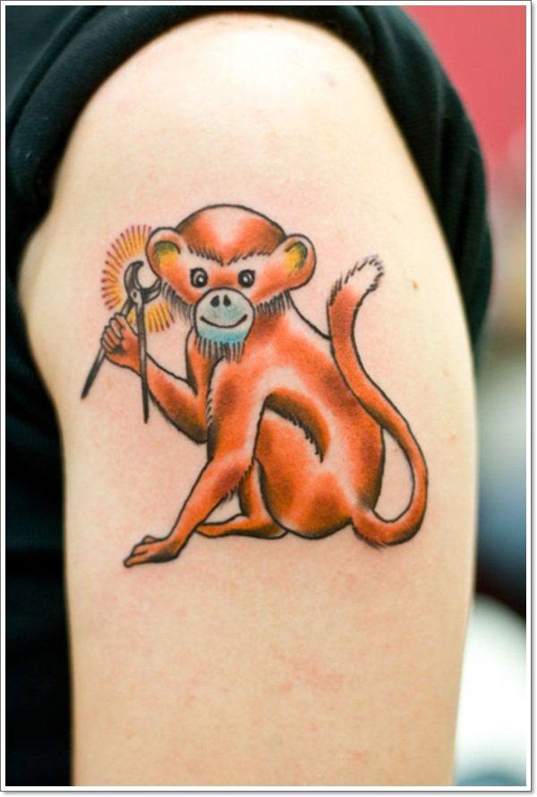 Что означает обезьяна в тату