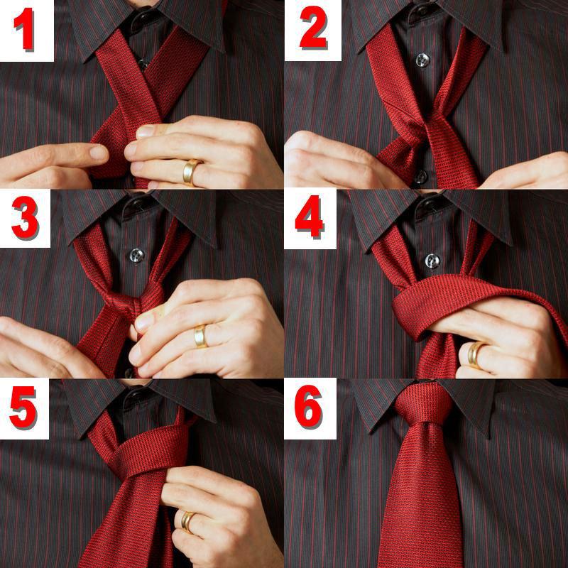 Завязываем галстук пошаговая инструкция фото