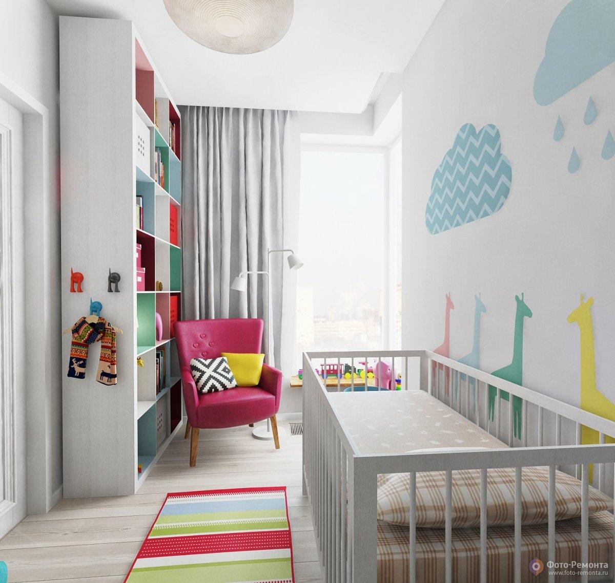 Дизайн детских комнат 10м2