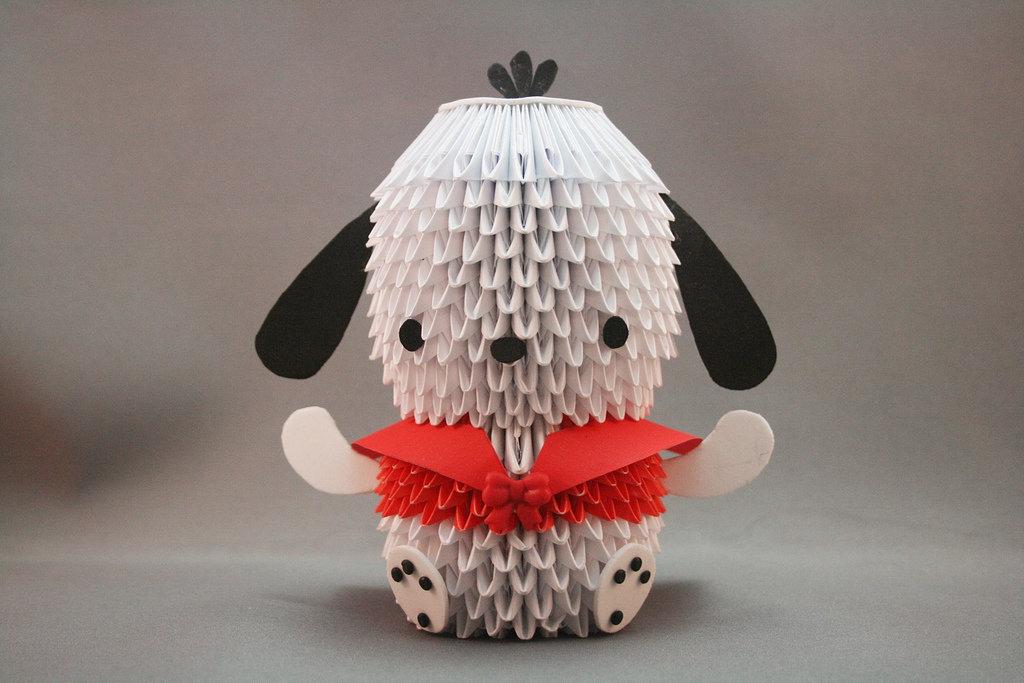 Собачка из модульного оригами 181