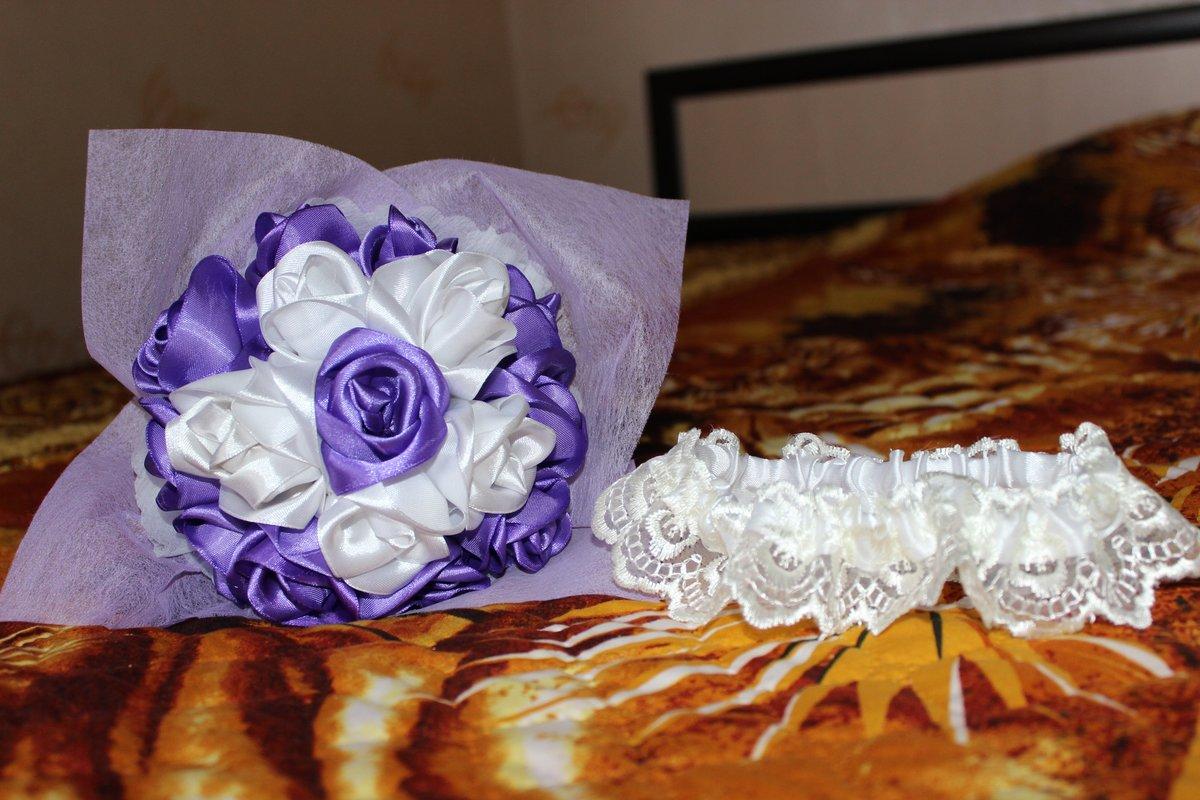 Изготовление свадебных букетов своими руками из атласных лент