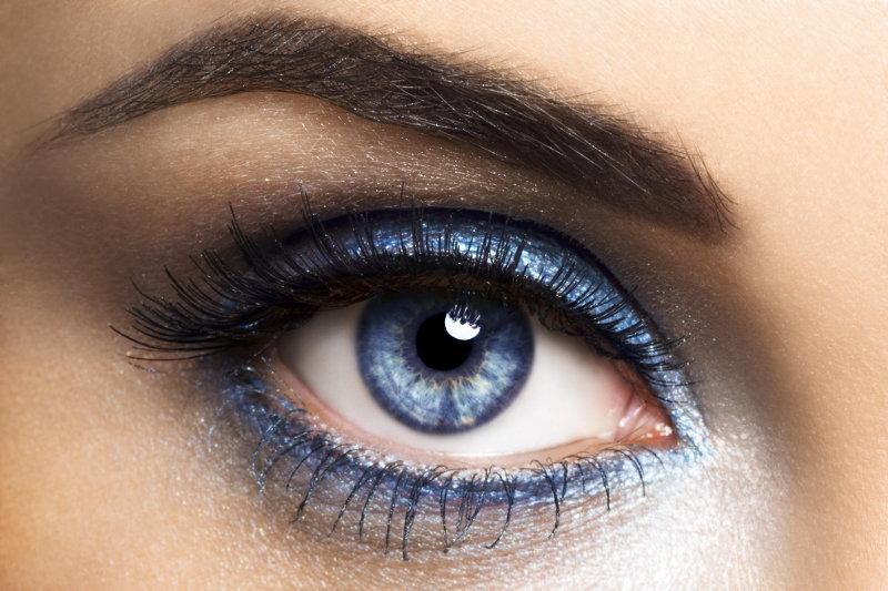 Макияж ресниц для голубых глаз