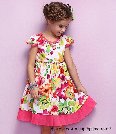 Красивые и простые платья для девочек своими руками