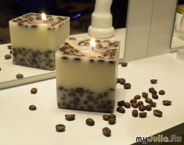 Кофейные свечи своими руками 33