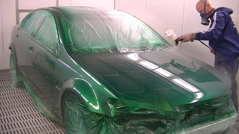 Технология покраски авто металликом
