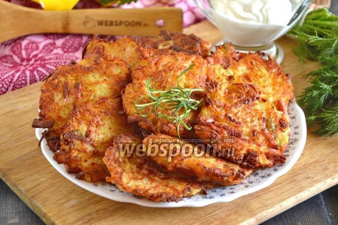 Драники с колбасой рецепт с пошагово