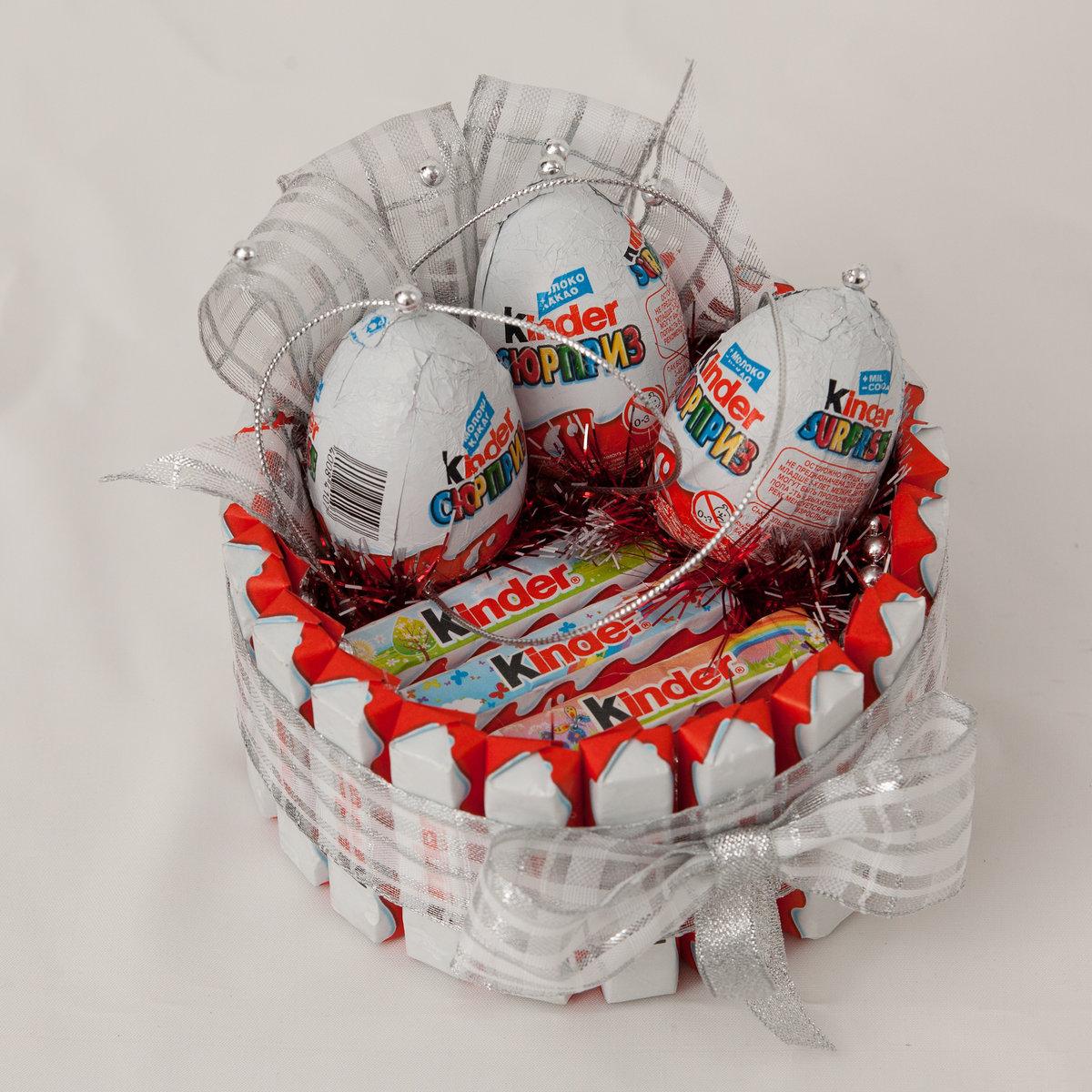 Подарок из шоколадных яиц