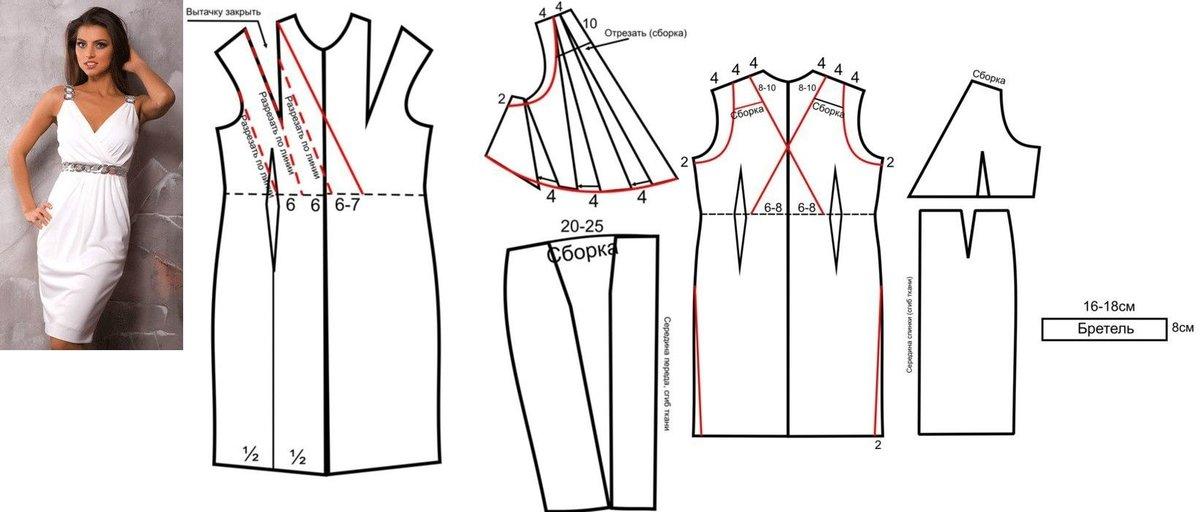 Как сшить греческое платье с выкройкой 977