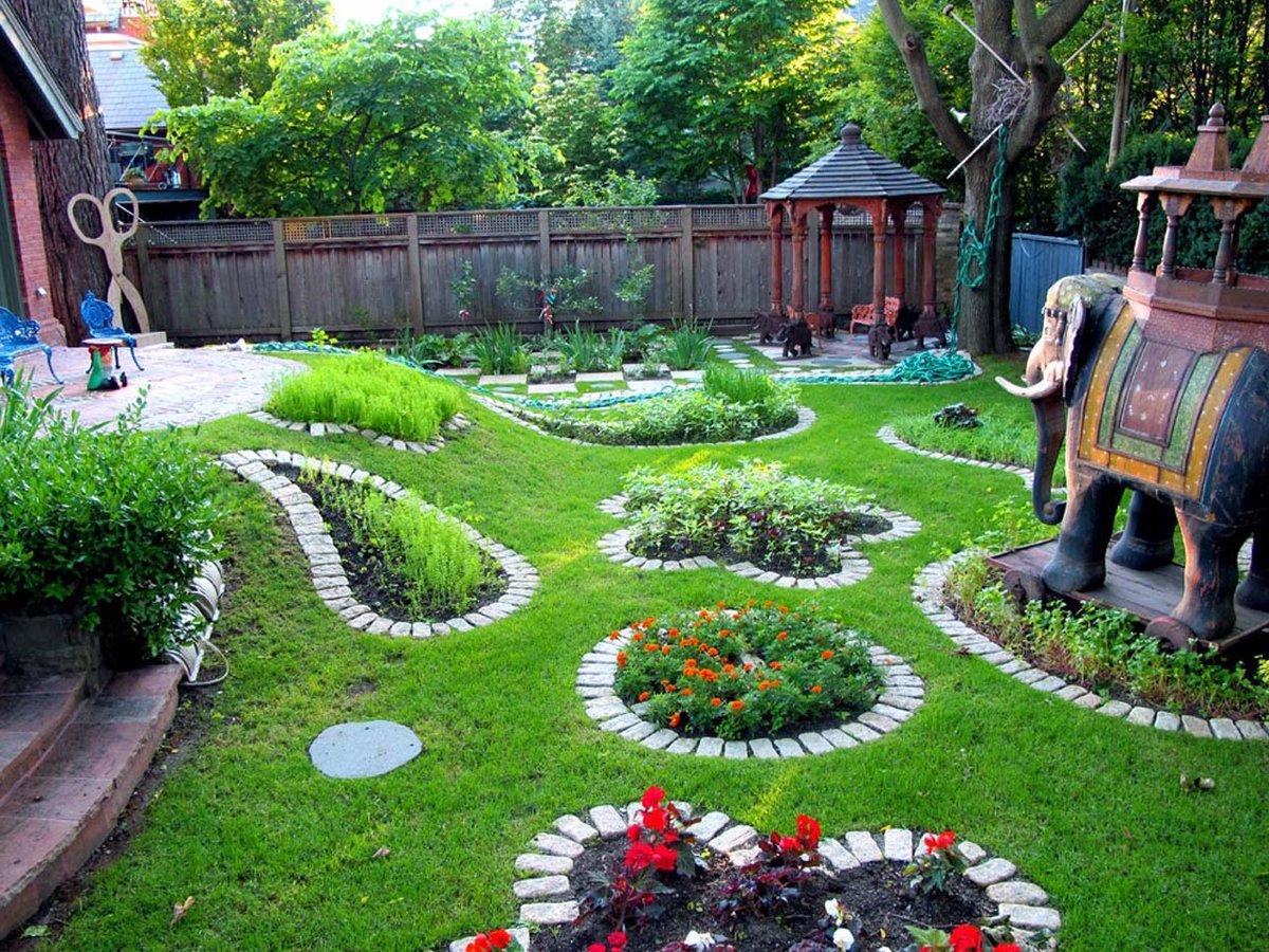 Фото дизайн садового участка своими руками