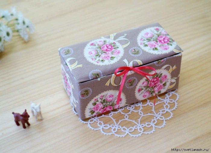 Коробка для рукоделия своими руками мастер класс