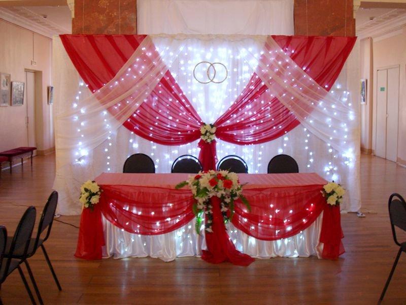 Украшения зала на свадьбу своими руками в красном цвете 19