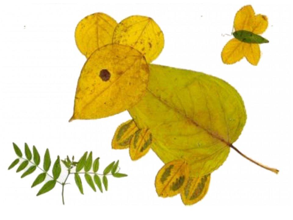 Из осенних листьев поделки с детьми 138
