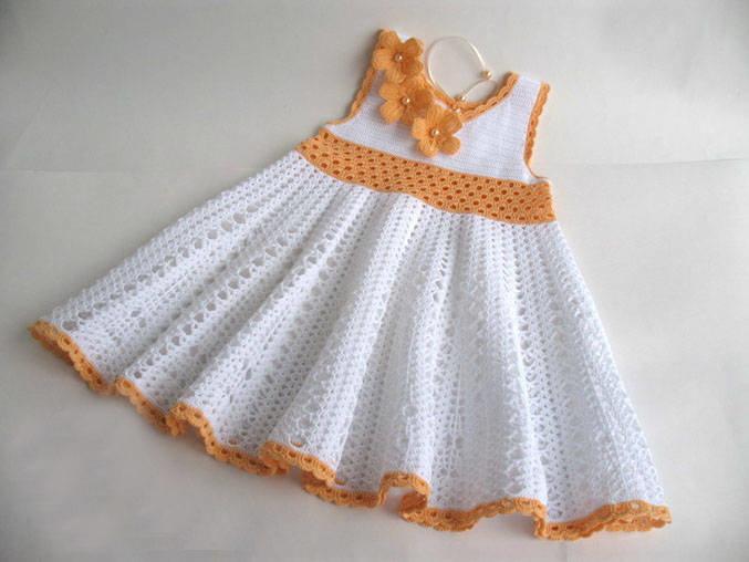 Вязание детского платья сарафаны 406