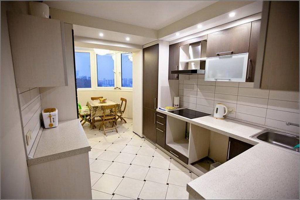 Дизайн кухни совмещенной с балконом фото интерьеров идеи