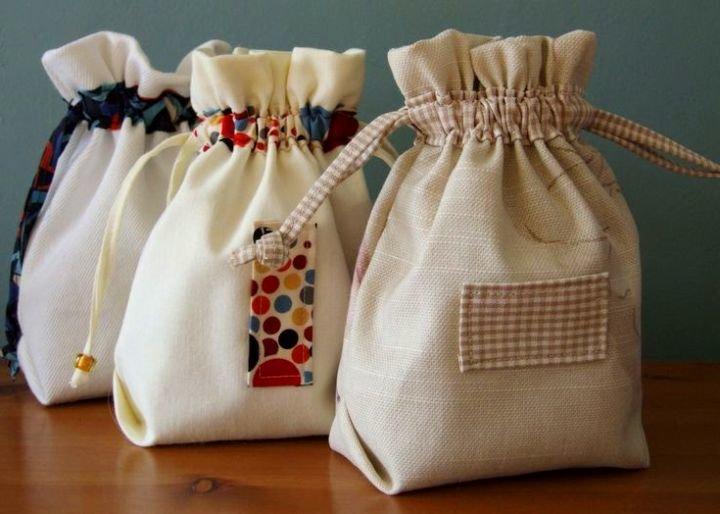 Как сшить мешочек из мешковины своими руками пошагово 26