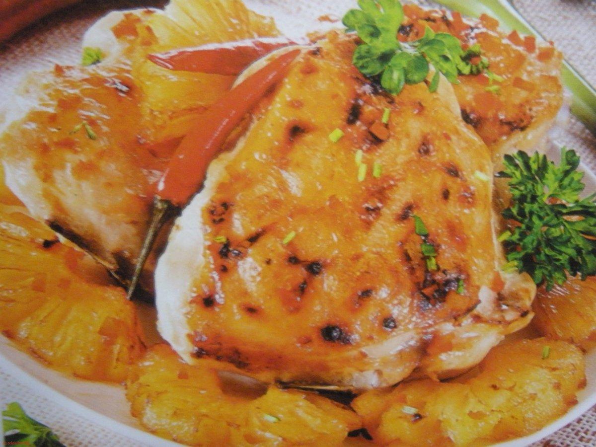 Куриное филе ананас рецепт
