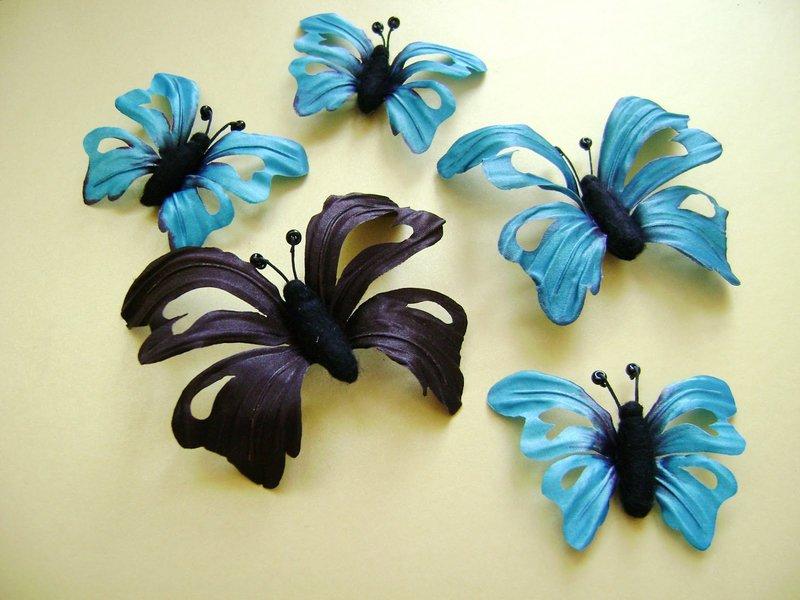 Заколки с бабочками своими руками