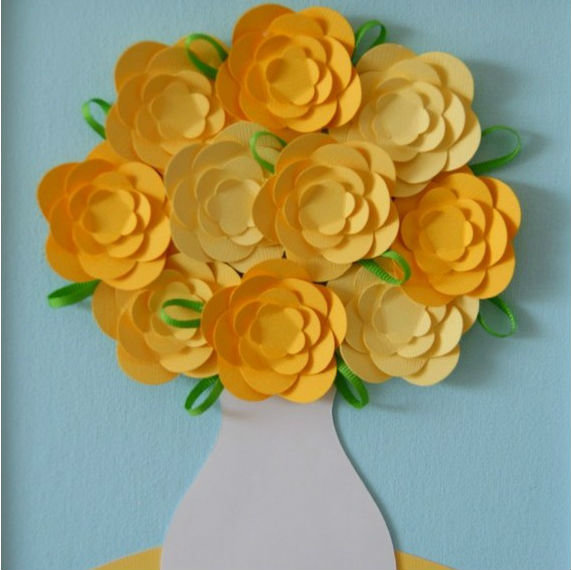 Объемная поделка из бумаги цветок 77