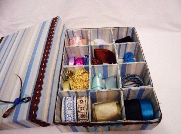 Как сделать органайзер из ткани и картона своими руками