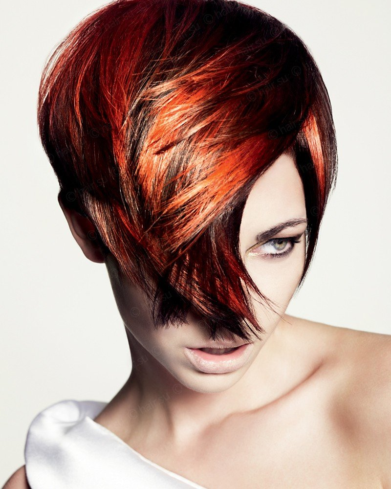 Креативное окрашивание волос в два цвета