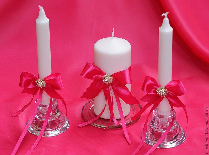 Свечей на свадьбу своими руками