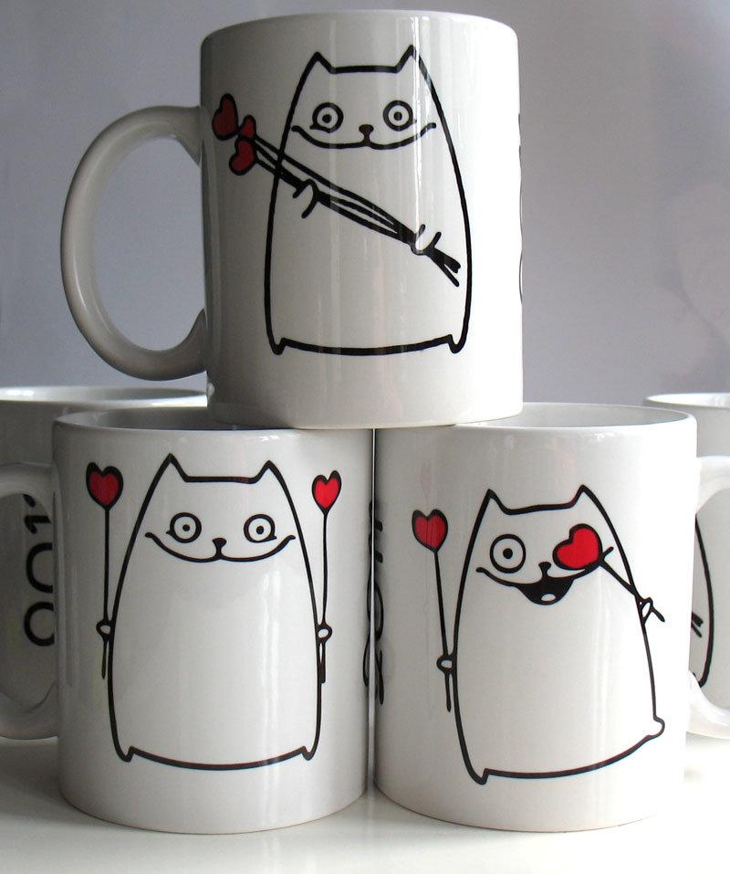 Рисунки на чашках на свою чашку