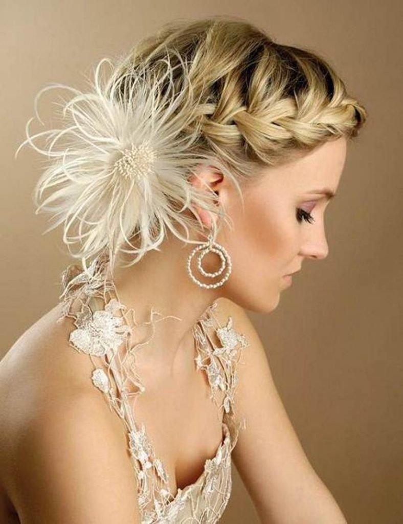 Укладки на средние волосы фото свадьба