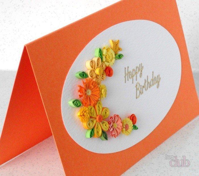 Как сделать легкую открытку для мамы на день рождения