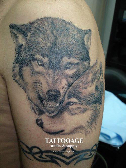 Тату волк значение и