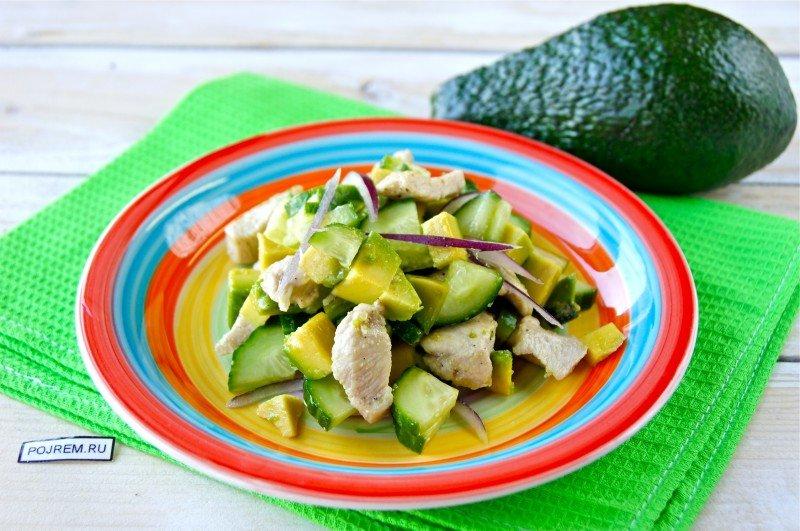 Салат с авокадо простой и быстрый рецепт с фото