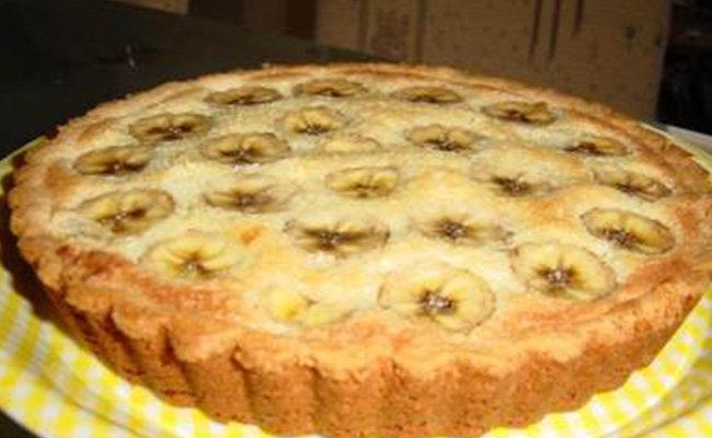 Пирог с бананами и творогом рецепт с пошагово в духовке